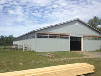 Prince edward county construction roofing renovations for Pole barns ontario